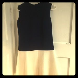 Dresses - Vintage 1960's Navy and White Dress